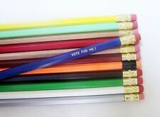 96 Assorted Hexagon Personalized Pencils in 35+ colors
