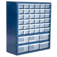 42 Drawer Hardware Storage Box Container Crafts Beads Nuts Bolts 17 Inch Hi