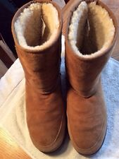 UGG AUSTRALIA 5220 MENS SHORT CHESTNUT LEATHER SHEEPSKIN WINTER BOOTS Size