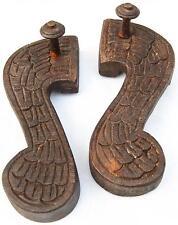 An originalPair of Wooden Sandals from India. Fair Trade. .