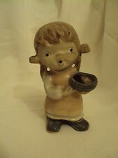 Vintage~UCTCI~Figurine Girl With Basket~Made in Japan