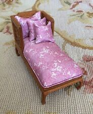 Bespaq/Pat Tyler Dollhouse Miniature Sofa Seat Couch Lounge Settee Pink