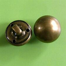 15 Vintage Brass Metal Plate Dome Military Patriotic Half Ball Buttons 18mm G129