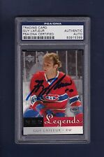 Guy LaFleur signed Montreal Canadiens NHL Legends hockey card Psa Authenticated