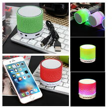 Portable Mini Bluetooth Wireless Speakers With TF USB FM Mic Blutooth Green {g}