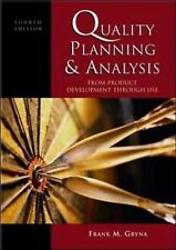 Quality Planning and Analysis: From Product Development through Use, Gryna, Fran