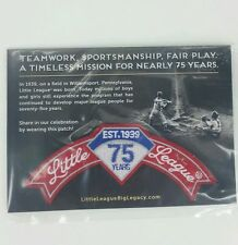 New & Sealed Little League 75 Year Anniversery Rocker Patch Baseball 1939