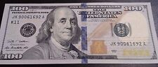 1 Lightly Circulated One Hundred $100 Dollar Bill ~ $100 Total US Currency