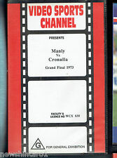 #ZZ.  RUGBY LEAGUE  VHS  VIDEO TAPE -1973 MANLY V CRONULLA GRANDFINAL HIGHLIGHTS