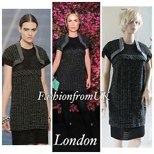 $7K CHANEL RUNWAY KNIT BOLERO TWEED DRESS SZ 36 38