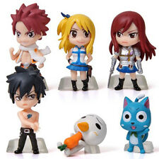 Hot New Cute 6PCS Mini Action Figures Fairy Tail Dolls Models Toys Collection
