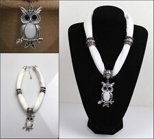 2016 New fashion Women's jewelry Scarf with Alloy OWL Pendants