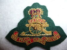 Royal Artillery (attached Royal Marines) Officer's Bullion Wire Beret Cap Badge