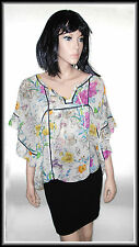 H&M Women's Batwing Sleeve Floral  Top size  UK 12 EUR 40