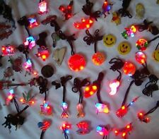100 pcs Assort Body Flashing Light LED Blinky Holiday Party Favor Supplies Lot