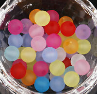 1000pcs Mixed Color Acrylic Spacer Beads Round Frosted Beads 8mm