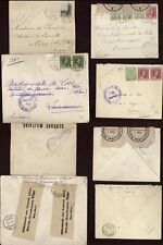 LUXEMBOURG WW1 COVERS x4,SWISS+BELGIUM +AUSTRIA CENSORS