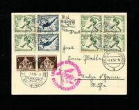 Zeppelin Sieger 427Ba 1936 LZ129 Olympic Flight Germany Post on Postcard