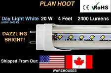G13 20 Watt 5000K T8 4 FT Fluorescent Replacement 10 LED Tube Lights Clear Lens