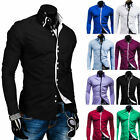High Quality Casual Double Collar Placket Contrast color long sleeve men's shirt