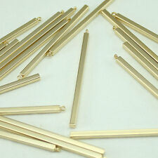 Square stick Metal Beads Pendants Gold Silver for Jewelry Making Supplies #237