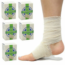 6 x Boxed Cotton Crepe First Aid Multi Functional Support Bandage 7.5cm x 4.5m