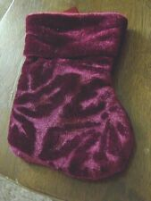 Holiday Christmas Red/Maroon Color Little Stocking