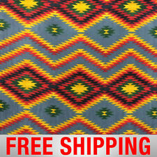 """Native American Fleece Fabric Desert Valley Style 36453 60"""" Wide Free Shipping"""