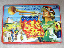 Boys & girls Page London Water Color Paint Box - metal box set from early 1960s