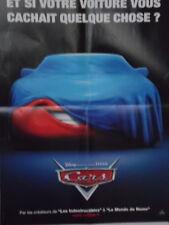 Affiche de Cinéma Poster CARS Disney présente un film Pixar