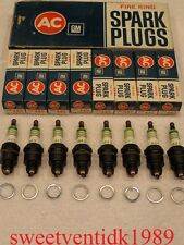 "'NOS' AC-44S Spark Plugs......""Fire Ring"".......GM #5612386"