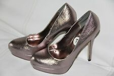 New JOEY Metallic  Women's Platform Shoes HIGH Heels  Size 7