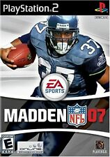 PS2 Madden NFL 07 Video Game 2007 football online multiplayer shaun alexander -B