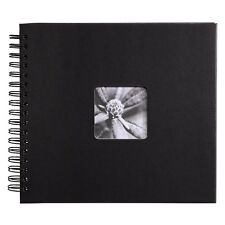 Hama fine art spiral traditionnel album 28 x 24/50 cm en noir (uk stock) bnib