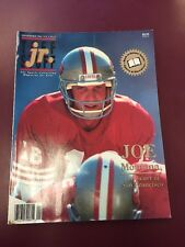 Sept 1991 Tuff Stuff Jr. JOE MONTANA. 49ers  Sports Magazine With Cards.