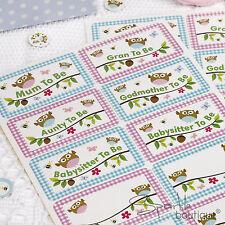 Baby shower nom autocollant badges-cadeau pour maman-to-be & guests-gamme complète en boutique