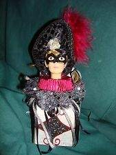Katherines Collection Wayne Kleski Mardi Gras Masked Man/Jester in Box with Tags
