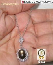 8 ct  BLACK STAR SAPPHIRE NECKLACE - A  ( Was $ 289.95 )