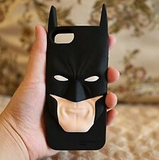 for iPhone SE 5S 5C - Black 3D Batman Hero Soft Silicone Rubber Case Skin Cover