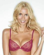 Wonderbra - Lace Gel Push Up Plunge Bra with Multiway Straps - Raspberry - 34D