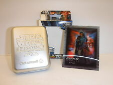 STAR WARS THE PHANTOM MENACE LIMITED EDITION 3D PLAYING CARDS IN TIN NEW