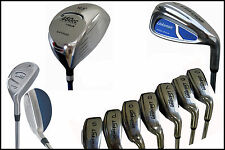 "X9 TALL MENS +1"" Long Complete Golf Club Set Woods Hybrids Widesole Irons RHand"