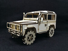 Wooden Land Rover 3D Model/Puzzle Kit
