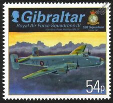 RAF No.520 Squadron HANDLEY PAGE HALIFAX Mk.V Aircraft WWII Stamp (Gibraltar)