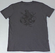 NWT Lucky Brand DANCING SKELETON TOP HAT Gray T-Shirt sz: large     L859