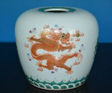 FINE ANTIQUE CHINESE FAMILLE ROSE PORCELAIN POT MARKED DAOGUANG RARE N3890