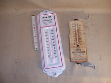 2 Vintage Metal Thermometers Burcon Home Furnishings MI Botran-Enide IL WI USA