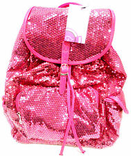 Backpack Sequined Fuchsia Bling Handbag Women Girls School Gym Books Cheer Dance