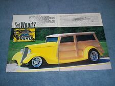"""1933 Ford Woodie Wagon Street Rod Article """"Got Wood?"""""""