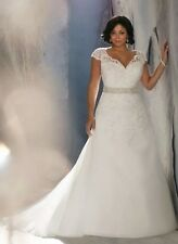 New Plus Size Lace White/Ivory Wedding Dress Bridal Gown Size 14-26 UK